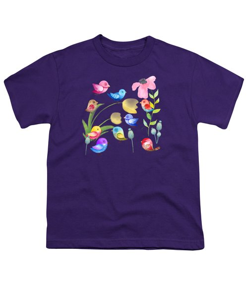 Watercolor Garden Party Youth T-Shirt