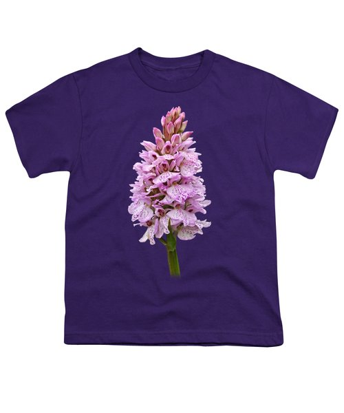 Wild Pink Spotted Orchid Youth T-Shirt by Gill Billington