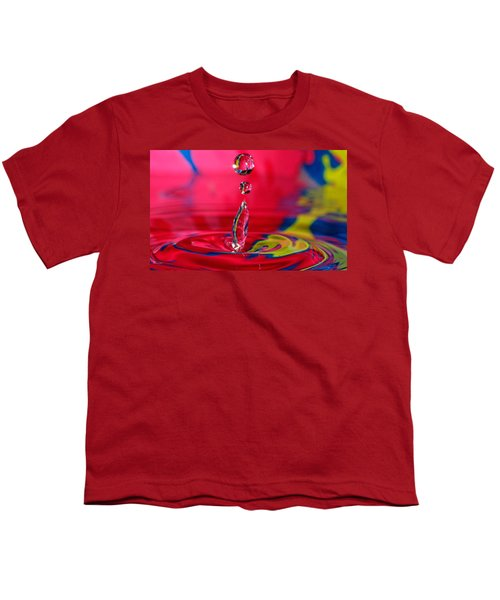 Colorful Water Drop Youth T-Shirt