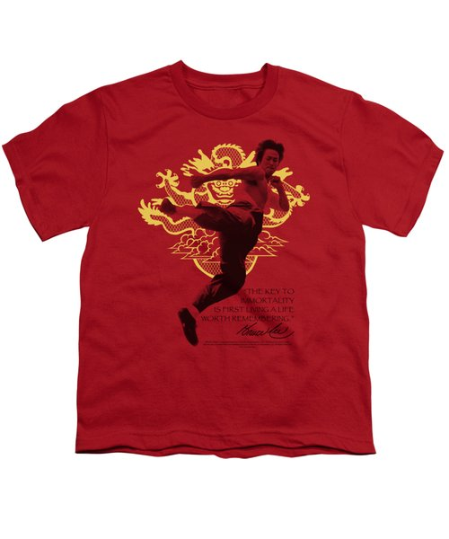 Bruce Lee - Immortal Dragon Youth T-Shirt by Brand A