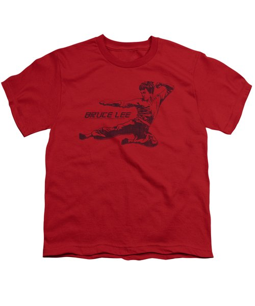 Bruce Lee - Line Kick Youth T-Shirt by Brand A