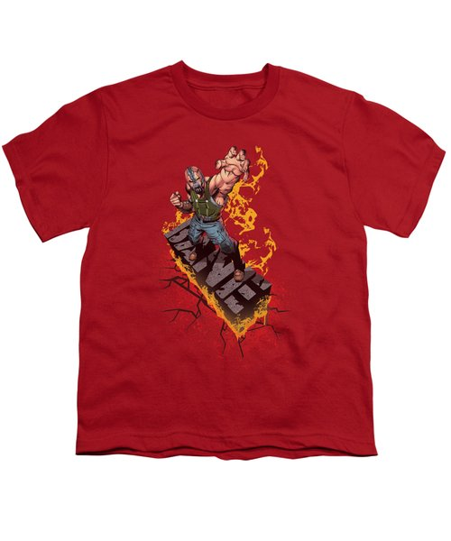 Dark Knight Rises - Bane On Fire Youth T-Shirt