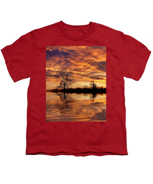 Fire Painters In The Sky Youth T-Shirt by Bill Pevlor