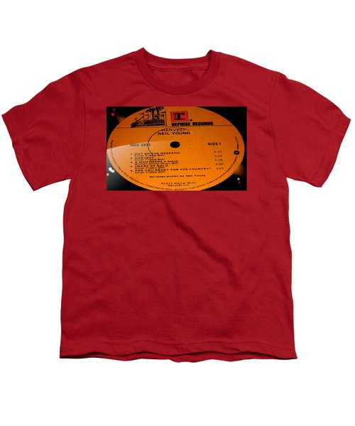 Harvest - Neil Young Side 1 Youth T-Shirt by Marcello Cicchini