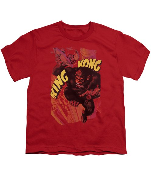 King Kong - Plane Grab Youth T-Shirt by Brand A