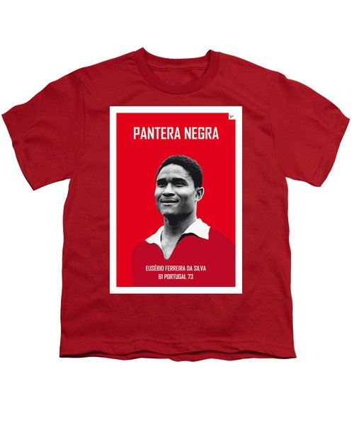 My Eusebio Soccer Legend Poster Youth T-Shirt by Chungkong Art