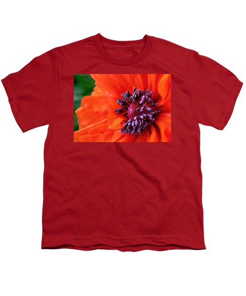 Poppy's Purple Passion Youth T-Shirt by Bill Pevlor