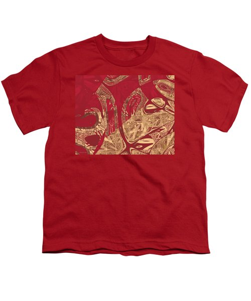 Red Geranium Abstract Youth T-Shirt