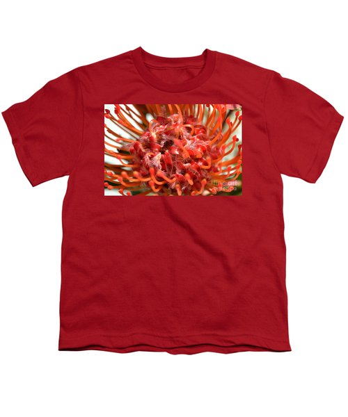 Red Pincushion Close Up Youth T-Shirt