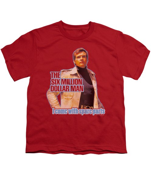 Six Million Dollar Man - Spare Parts Youth T-Shirt by Brand A