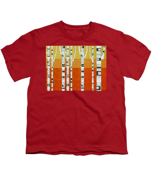 Sunset Birches Youth T-Shirt by Michelle Calkins