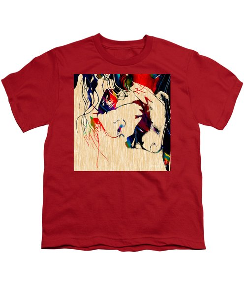 The Joker Heath Ledger Collection Youth T-Shirt by Marvin Blaine
