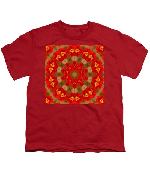 Youth T-Shirt featuring the photograph Day Lily Kaleidoscope by Bill Barber