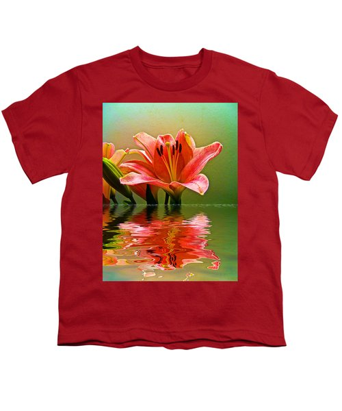 Flooded Lily Youth T-Shirt by Bill Barber