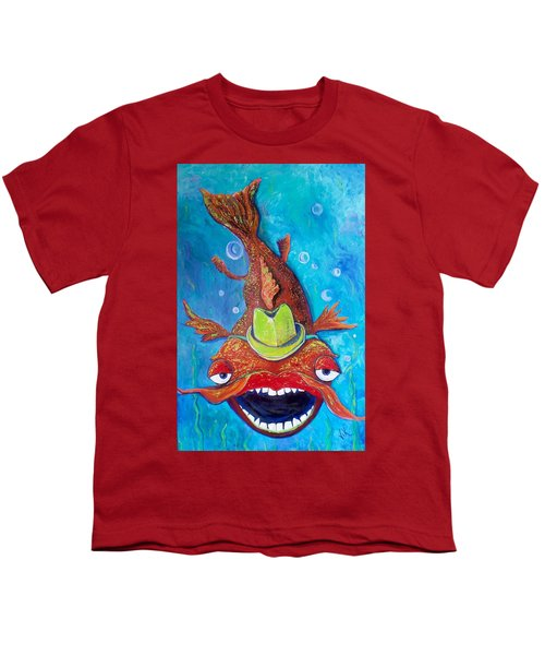 Catfish Clyde Youth T-Shirt by Vickie Scarlett-Fisher