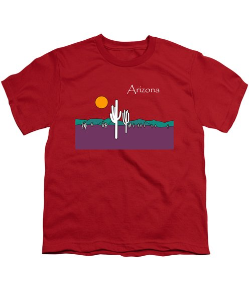 Desert Sunset Youth T-Shirt by Methune Hively