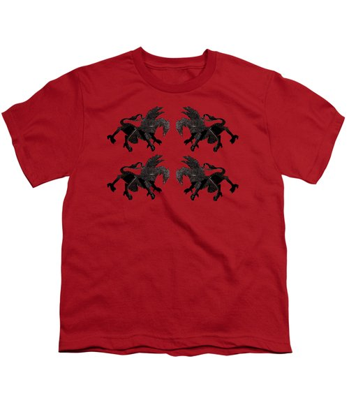 Dragon Cutout Youth T-Shirt by Vladi Alon