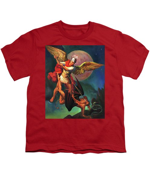 Saint Michael The Warrior Archangel Youth T-Shirt