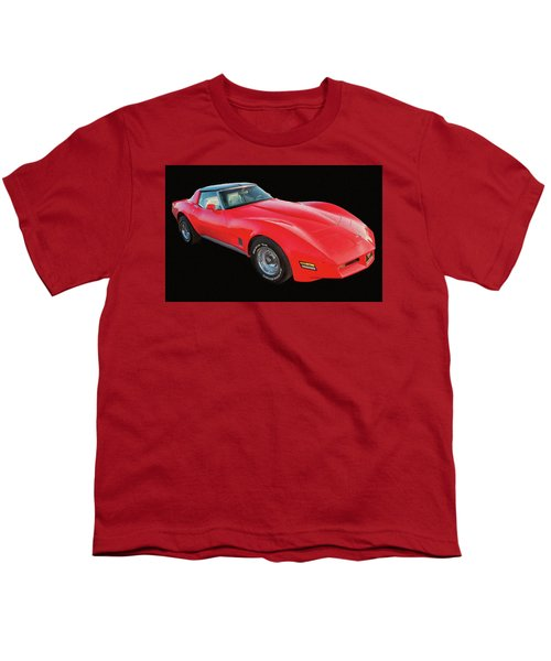 1977 Chevy Corvette T Tops Digital Oil Youth T-Shirt