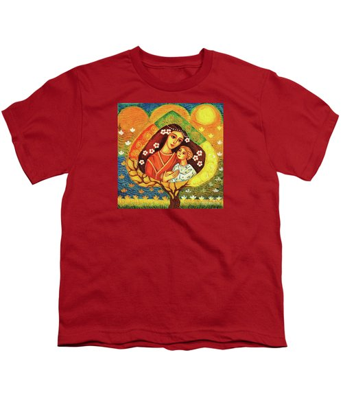 Youth T-Shirt featuring the painting Tree Of Life by Eva Campbell