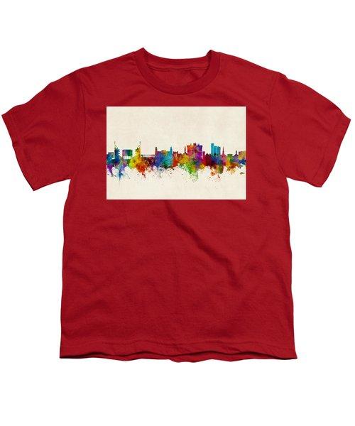 Fayetteville Arkansas Skyline Youth T-Shirt