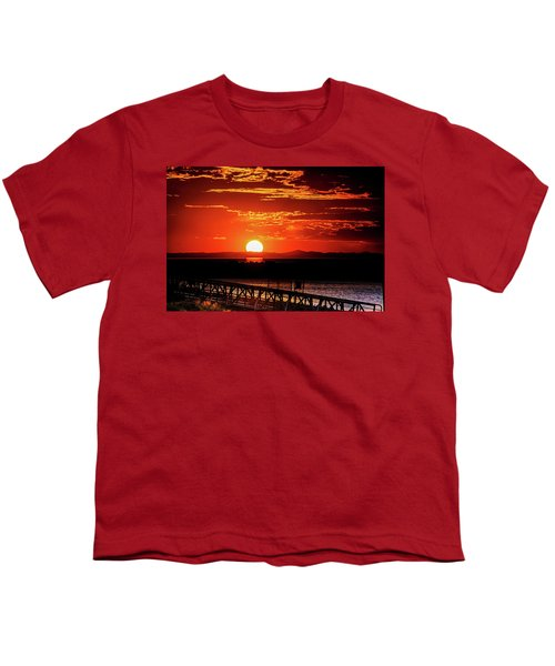 Antelope Island Marina Sunset Youth T-Shirt