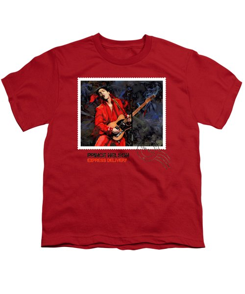 Prince Nelson With Guitar  Youth T-Shirt