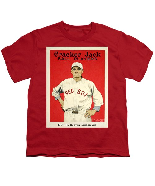 Babe Ruth Cracker Jack Card Youth T-Shirt