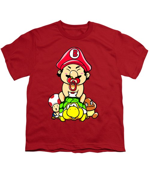 Baby Mario And Friends Youth T-Shirt by Paws Pals