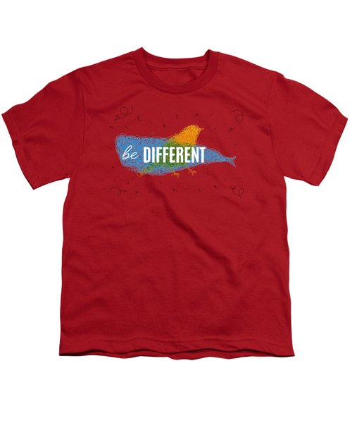 Be Different Youth T-Shirt by Aloke Creative Store
