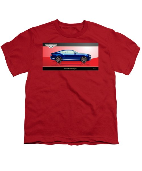 Bentley Continental Gt With 3d Badge Youth T-Shirt