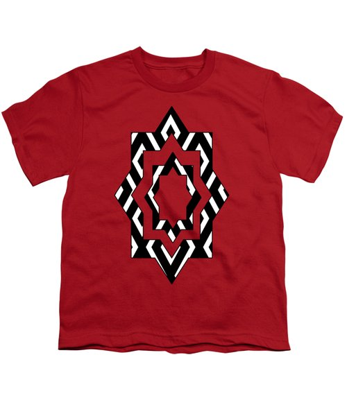Black And White Pattern Youth T-Shirt