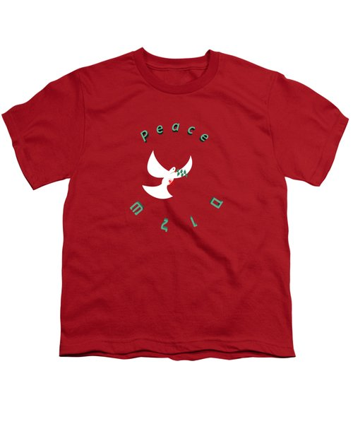bloody peace Wounded dove symbol of peace  Youth T-Shirt by Ilan Rosen