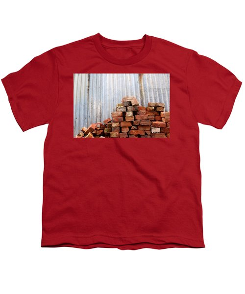 Youth T-Shirt featuring the photograph Brick Piled by Stephen Mitchell