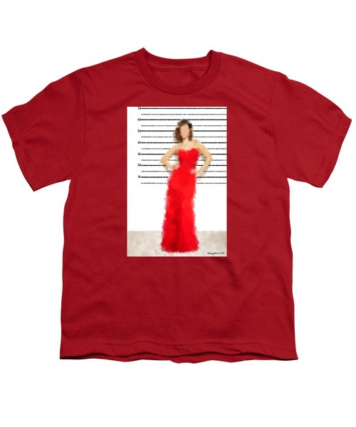 Youth T-Shirt featuring the digital art Carmela by Nancy Levan