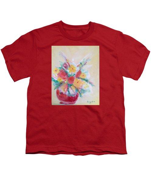 Cheerful Flower Arrangement Youth T-Shirt