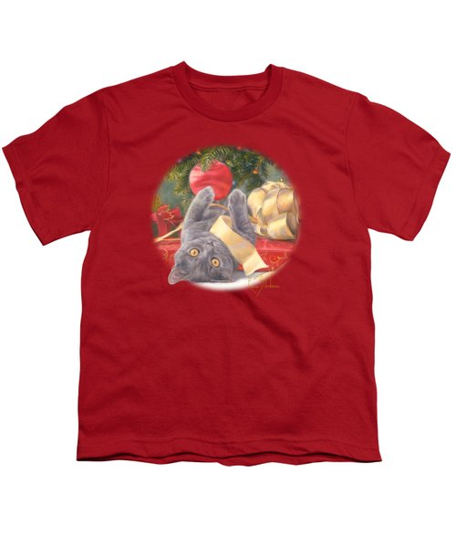 Christmas Surprise Youth T-Shirt by Lucie Bilodeau