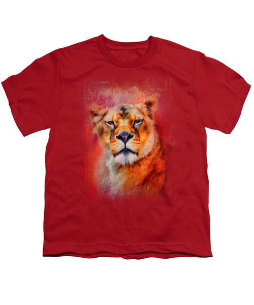 Colorful Expressions Lioness Youth T-Shirt by Jai Johnson