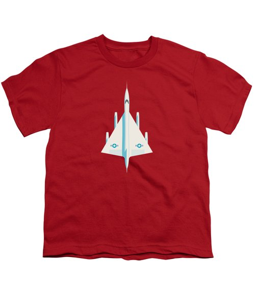 B-58 Hustler Supersonic Jet Bomber - Crimson Youth T-Shirt
