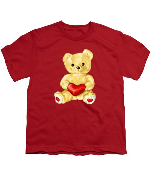 Cute Teddy Bear Hypnotist Youth T-Shirt