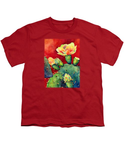 Desert Bloom Youth T-Shirt by Hailey E Herrera