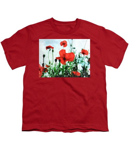 Early Morning Poppy Moment Youth T-Shirt