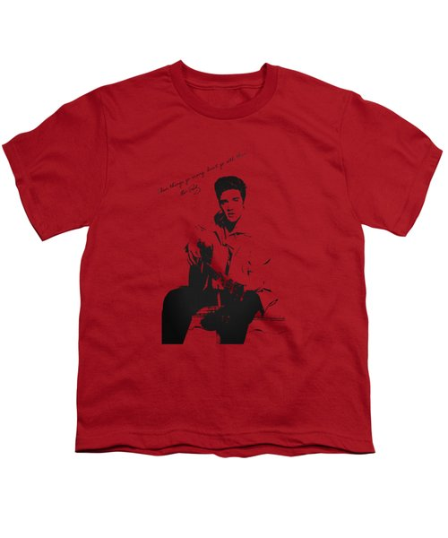 Elvis Presley - When Things Go Wrong Youth T-Shirt by Serge Averbukh
