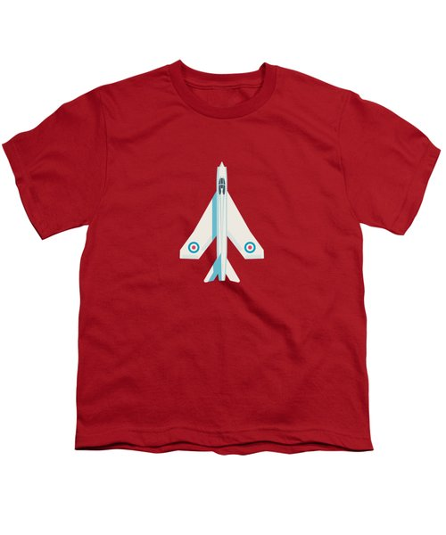 English Electric Lightning Fighter Jet Aircraft - Crimson Youth T-Shirt