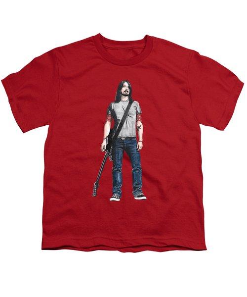 Extraordinary Hero Cutout Youth T-Shirt by Steven Hart
