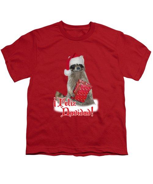 Feliz Navidad - Raccoon Youth T-Shirt