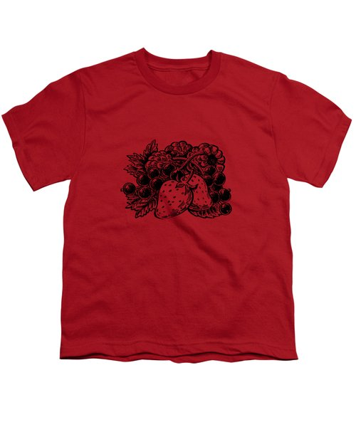 Forest Berries Youth T-Shirt by Irina Sztukowski
