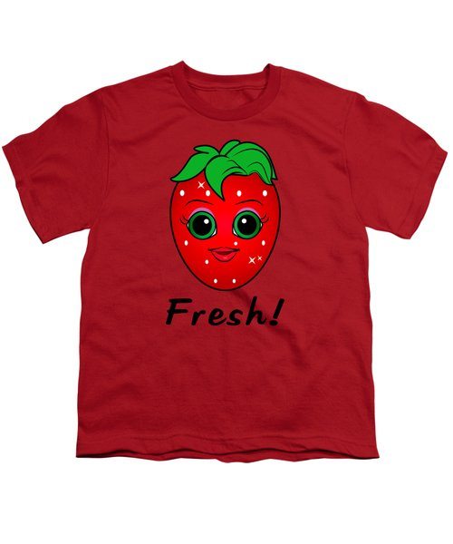 Fresh Strawberry Youth T-Shirt by A