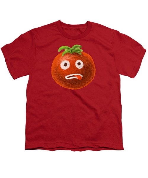 Funny Tomato Youth T-Shirt by Boriana Giormova