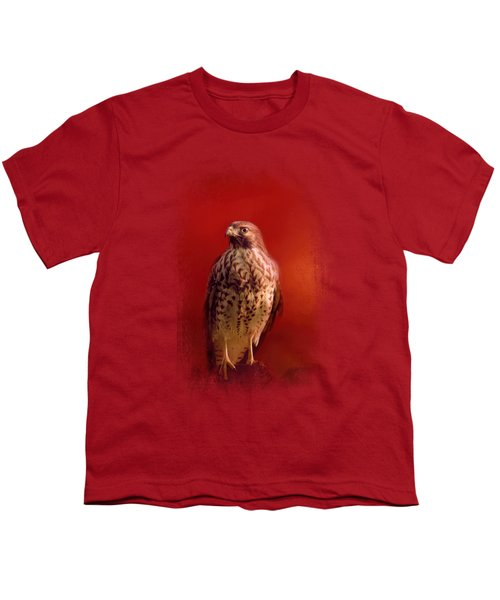 Hawk On A Hot Day Youth T-Shirt by Jai Johnson